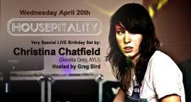 Christina Chatfield LIVE at Housepitality