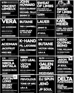 Housepitality Lineups 2017 and end of 2016