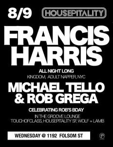 Francis Harris @ Housepitality